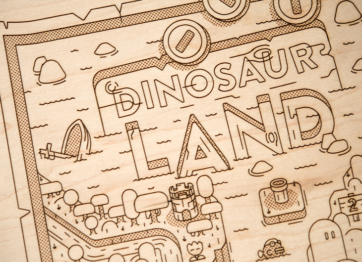 A detailed wooden map of dinosaur land from the video game super dinosaur land map gumiabroncs Images