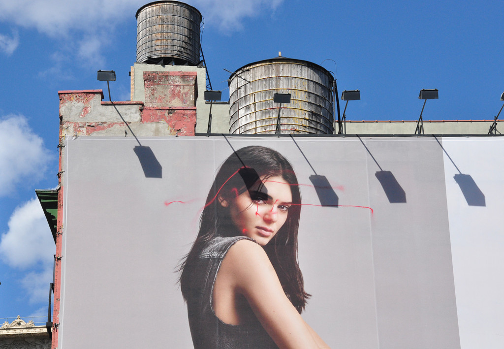 Artist KATSU Uses a Spray Paint Drone to Vandalize a Huge Calvin Klein Billboard in New York City
