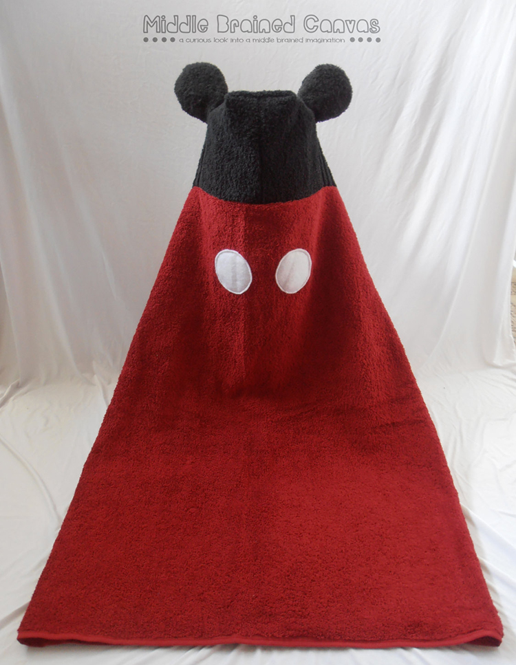 Mickey Mouse Inspired Hooded Bath Towel