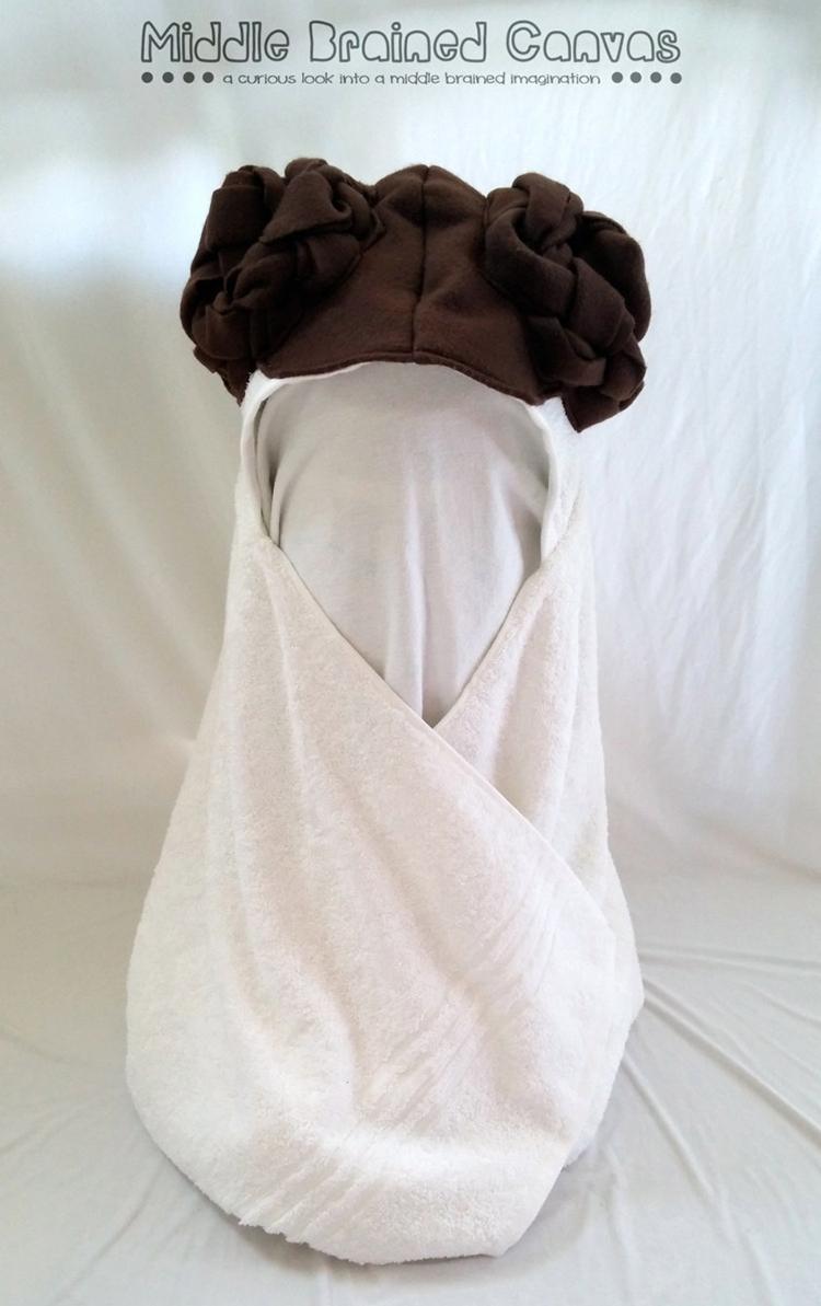Princess Leia Inspired Hooded Bath Towel