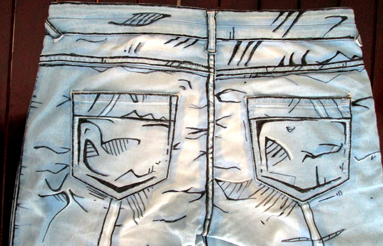 Cel shaded pants Borderlands style