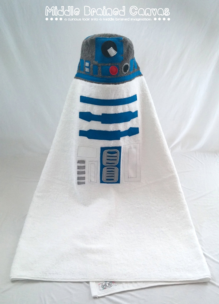 R2D2 Inspired Hooded Bath Towel