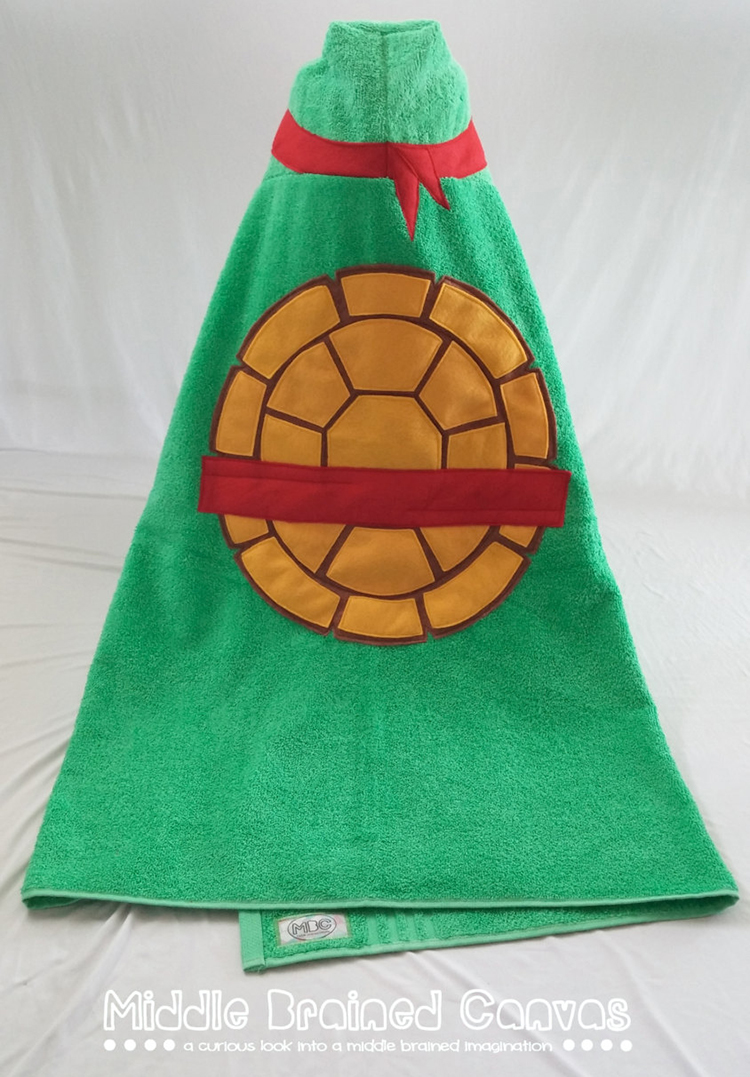 Ninja Turtle Inspired Hooded Bath Towel