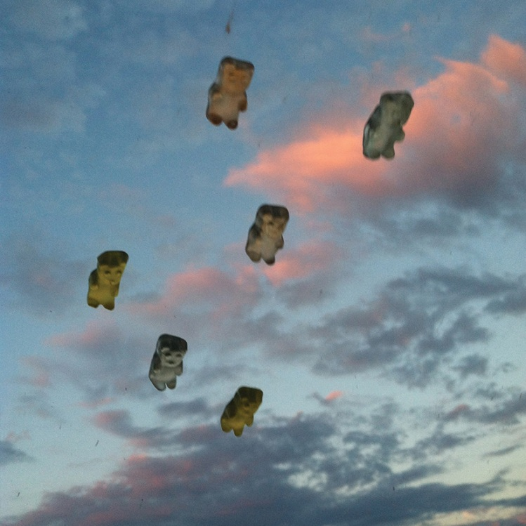 Photos of Flying Gummy Bears by Esther Pearl Watson
