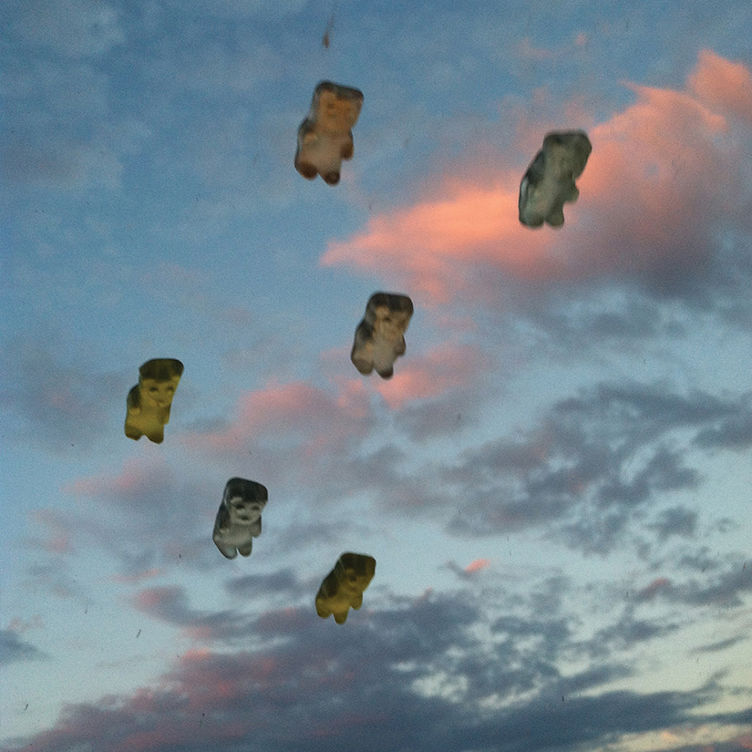 Playful Photos of Gummy Bears Flying on Car Windshields