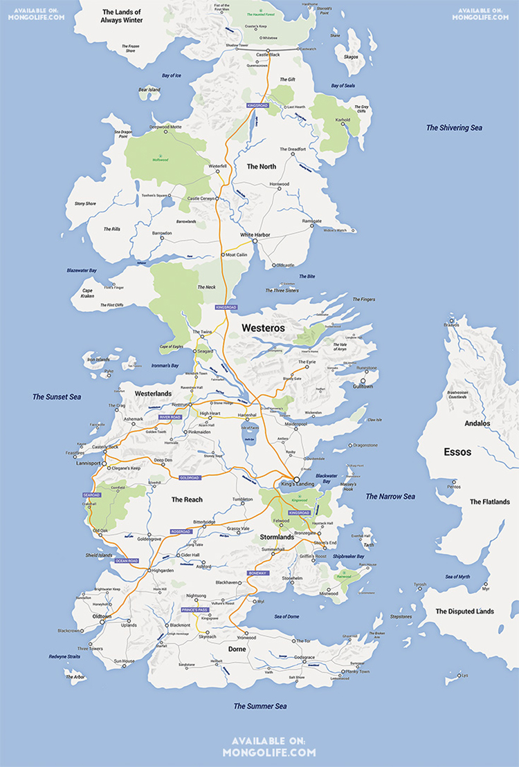 A google maps version of the continent of westeros from game of game of thrones map gumiabroncs Image collections