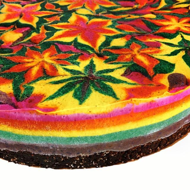 Raw vegan mandala cheesecake