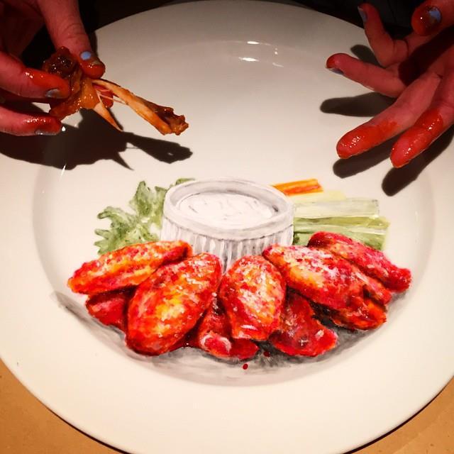 hot wings plate