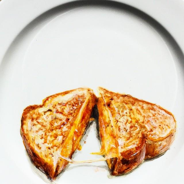 grilled cheese plate