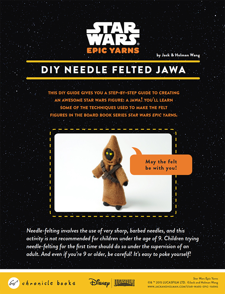 Star Wars Epic Yarns Felted Jawa How To