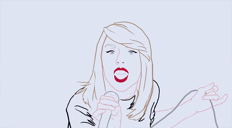 Redrawing Taylor Swift - Shake it Off Rotoscoped