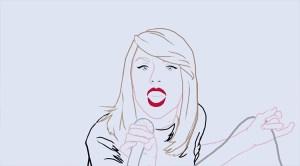 Redrawing Taylor Swift - Shake it Off Rotoscoped