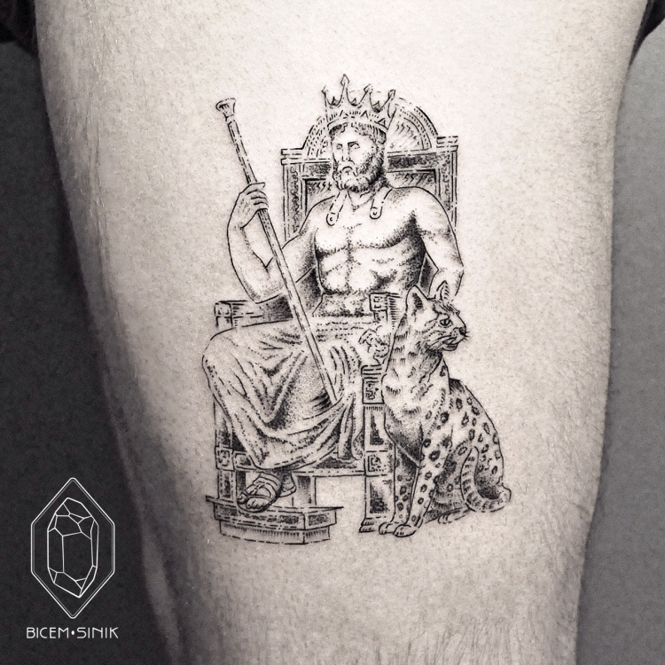 king tattoo by Bicem Sinik