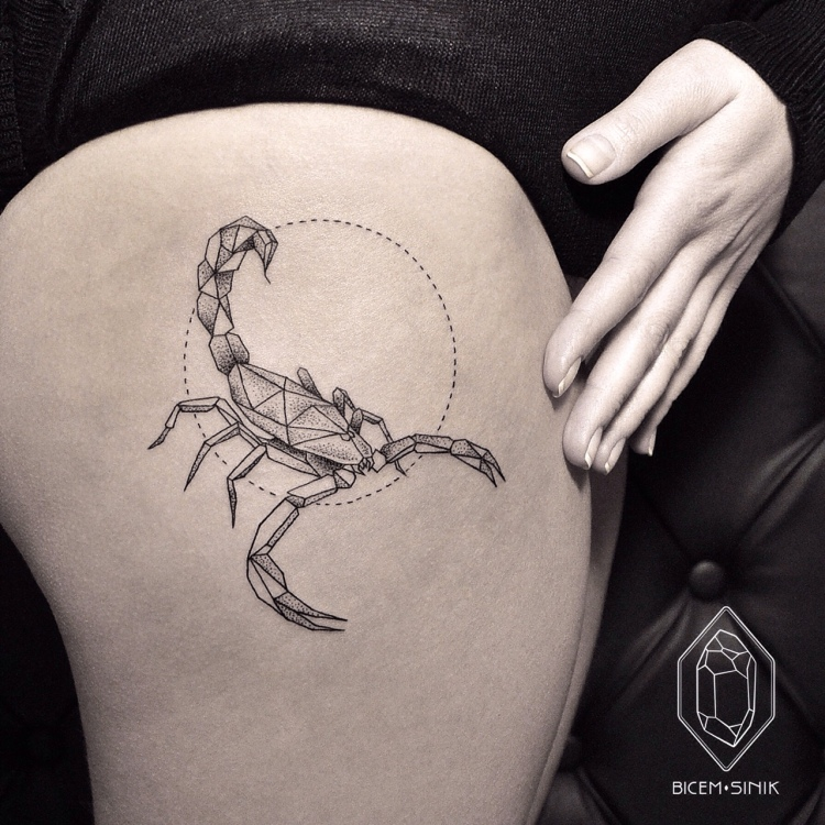 scorpion tattoo by Bicem Sinik