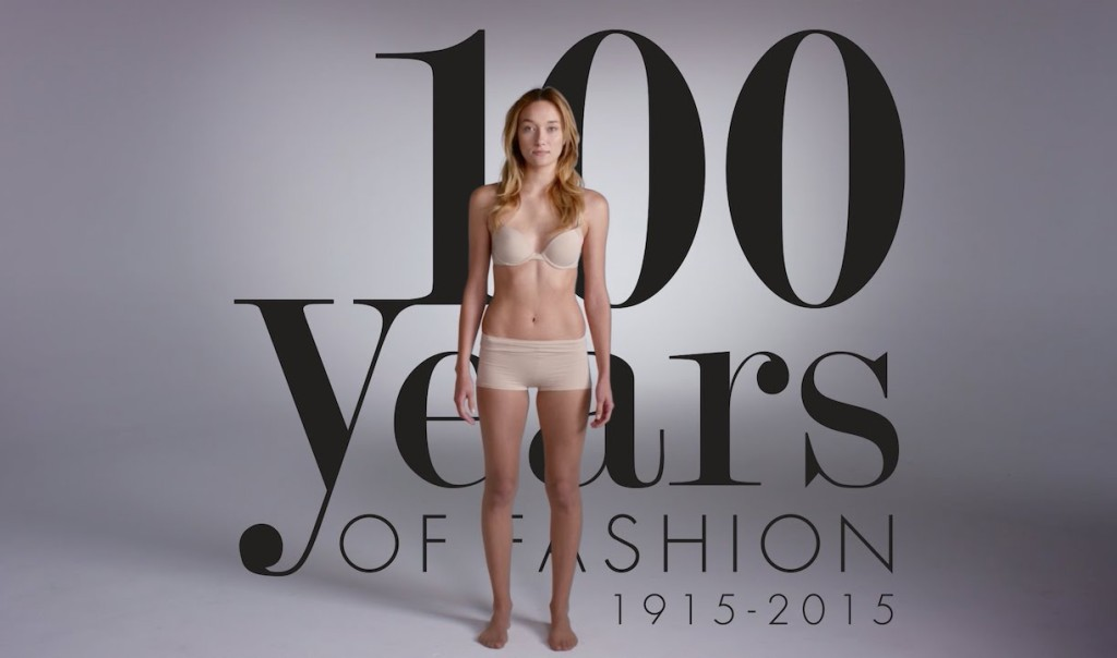 100 Years of American Fashion and Makeup Trends Shown in a Two-Minute Time-Lapse