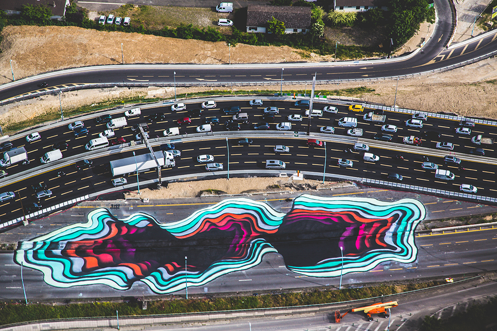 Le Périphiérique German Artist Creates A Giant Optical - Incredible optical illusion street art 1010