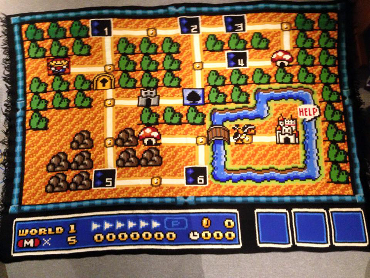Super Mario Bros 3 Blanket