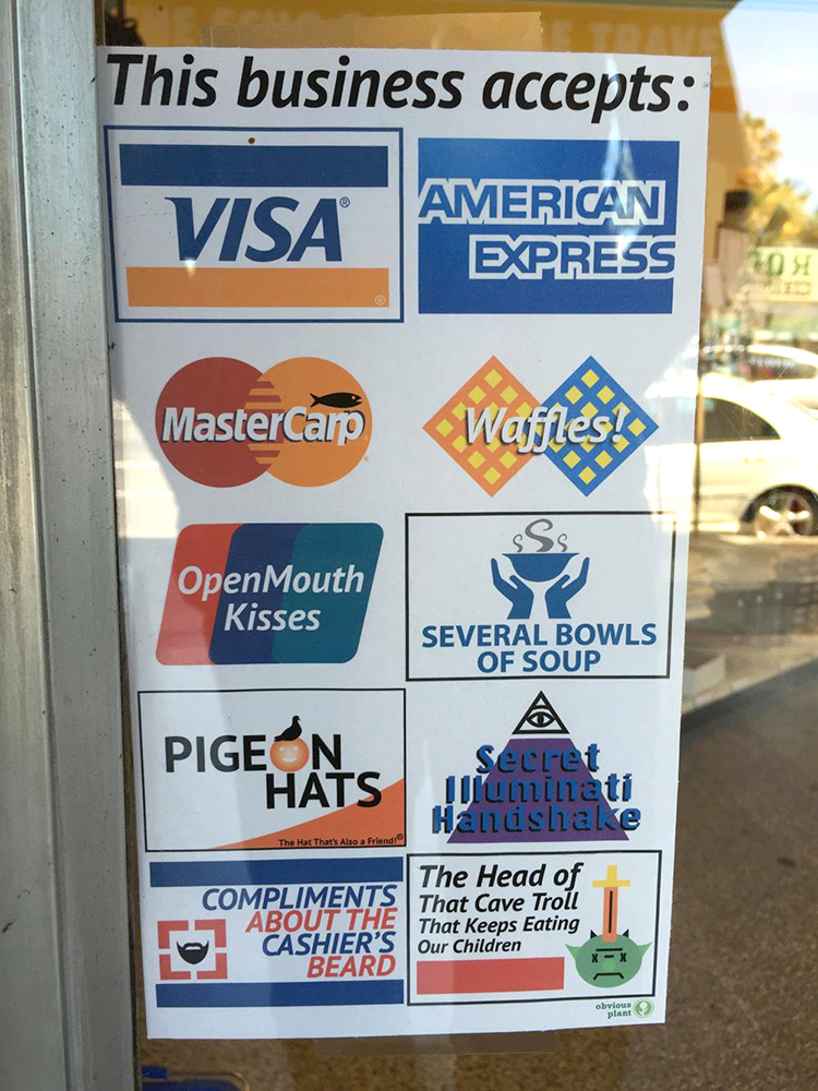 New forms of payment