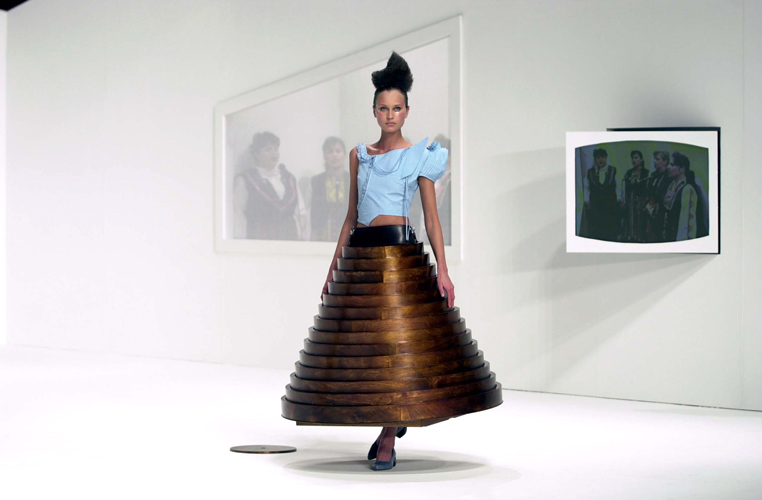 A Fashion Collection Featuring Furniture That Converts Into Clothing