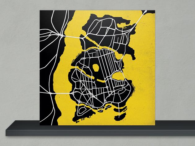 Batman Gotham City Map Print 3