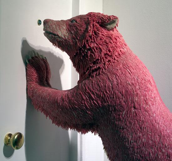 Chewing Gum Bear at Door
