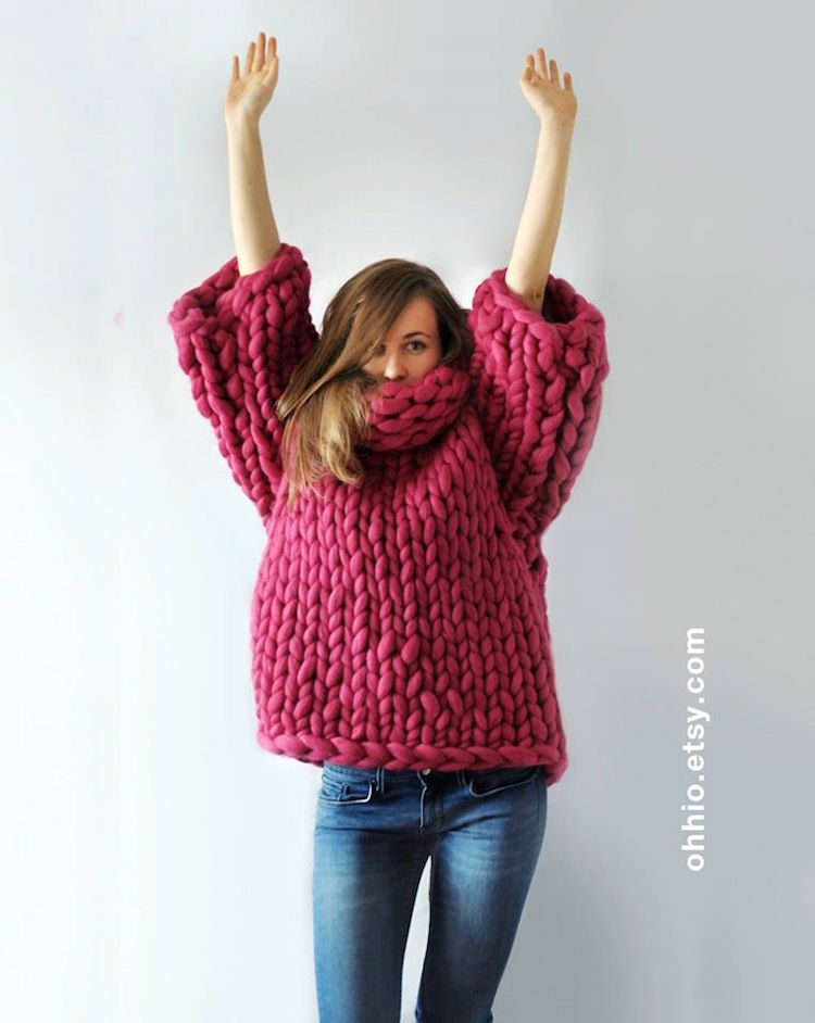 Beautifully Crafted Super Chunky Hand Knit Blankets, Sweaters and ...
