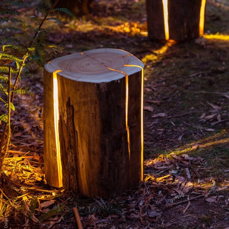 Cracked Log Stool