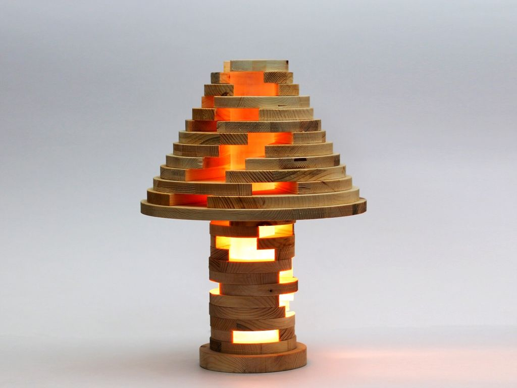 How to Build a Beautiful Wooden Lamp With Stackable, Rearrangeable Parts