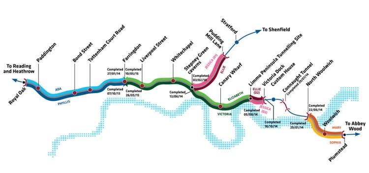 Final Crossrail Map