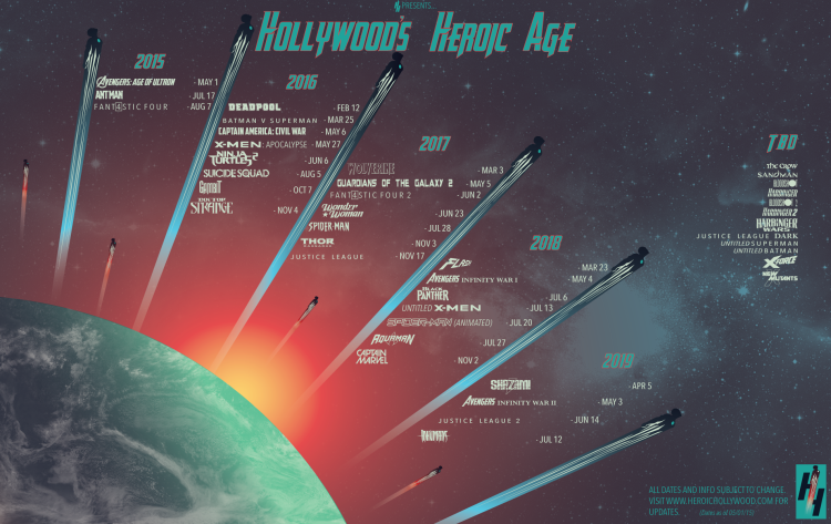 Heroic Hollywood Calendar
