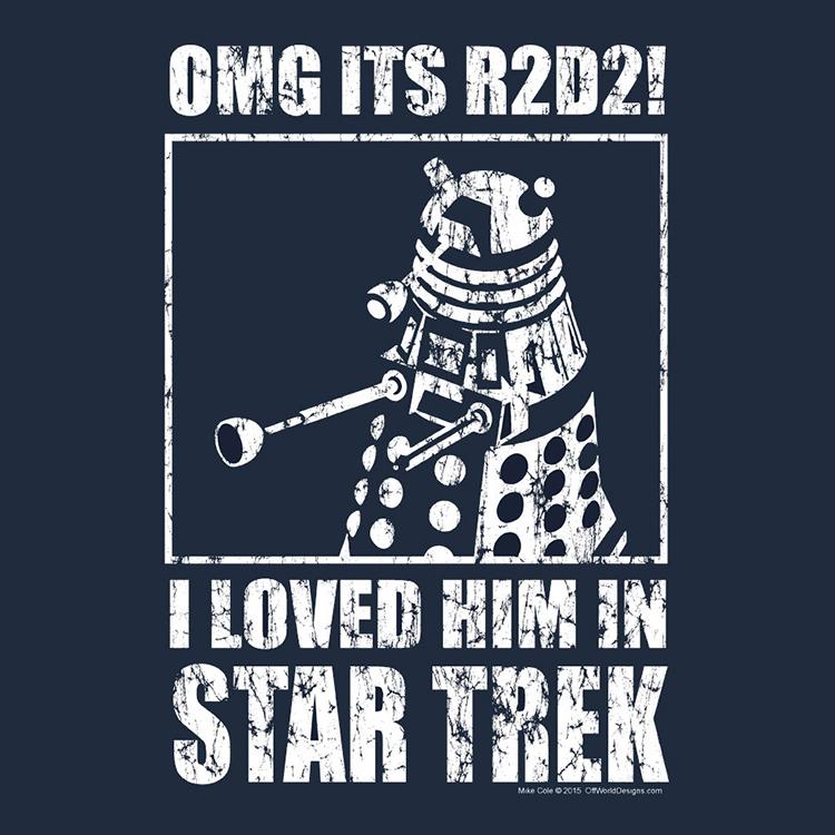 A Mixed Up Sci Fi Parody T Shirt Design Featuring Dalek