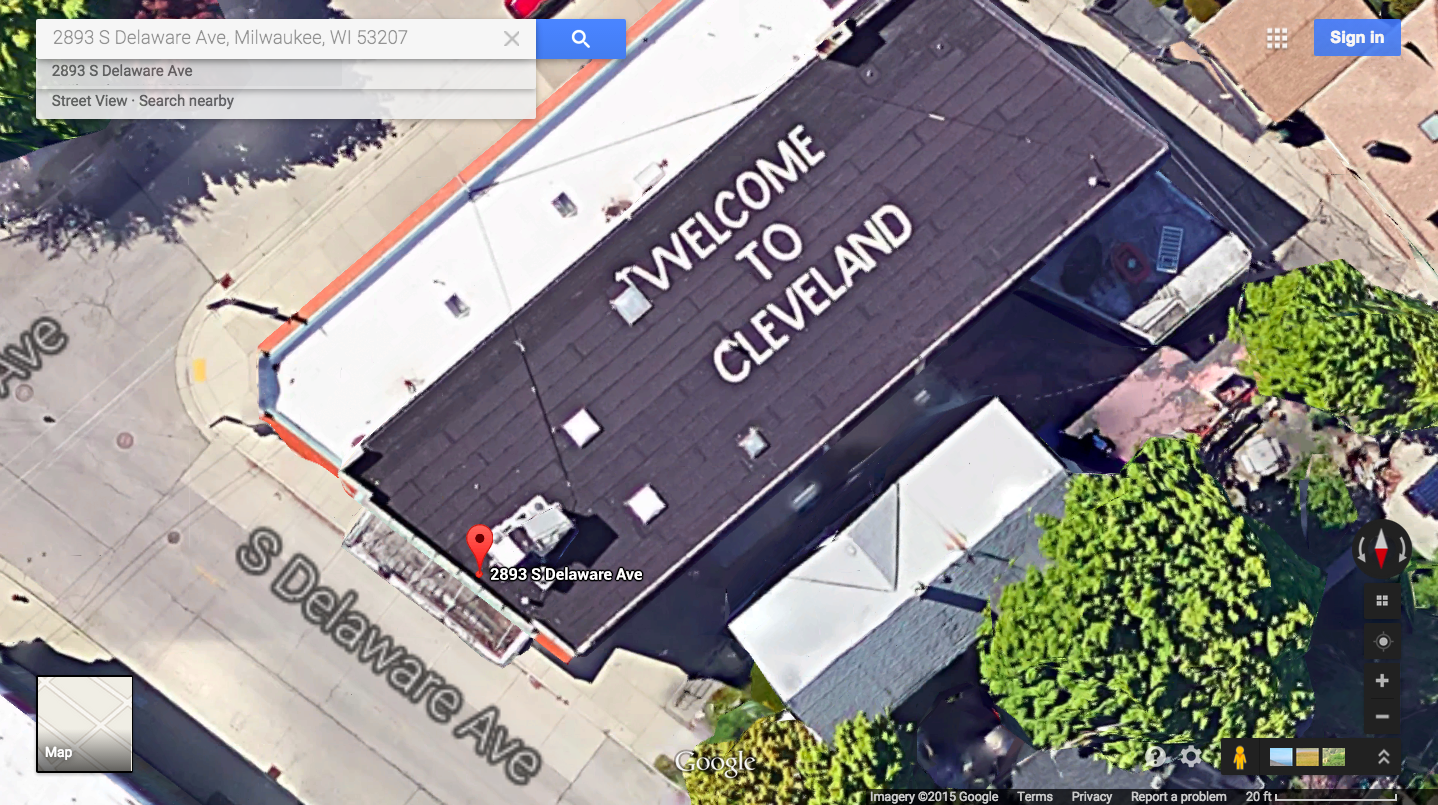 A Milwaukee Man Has Maintained a \'Welcome to Cleveland\' Sign Visible ...