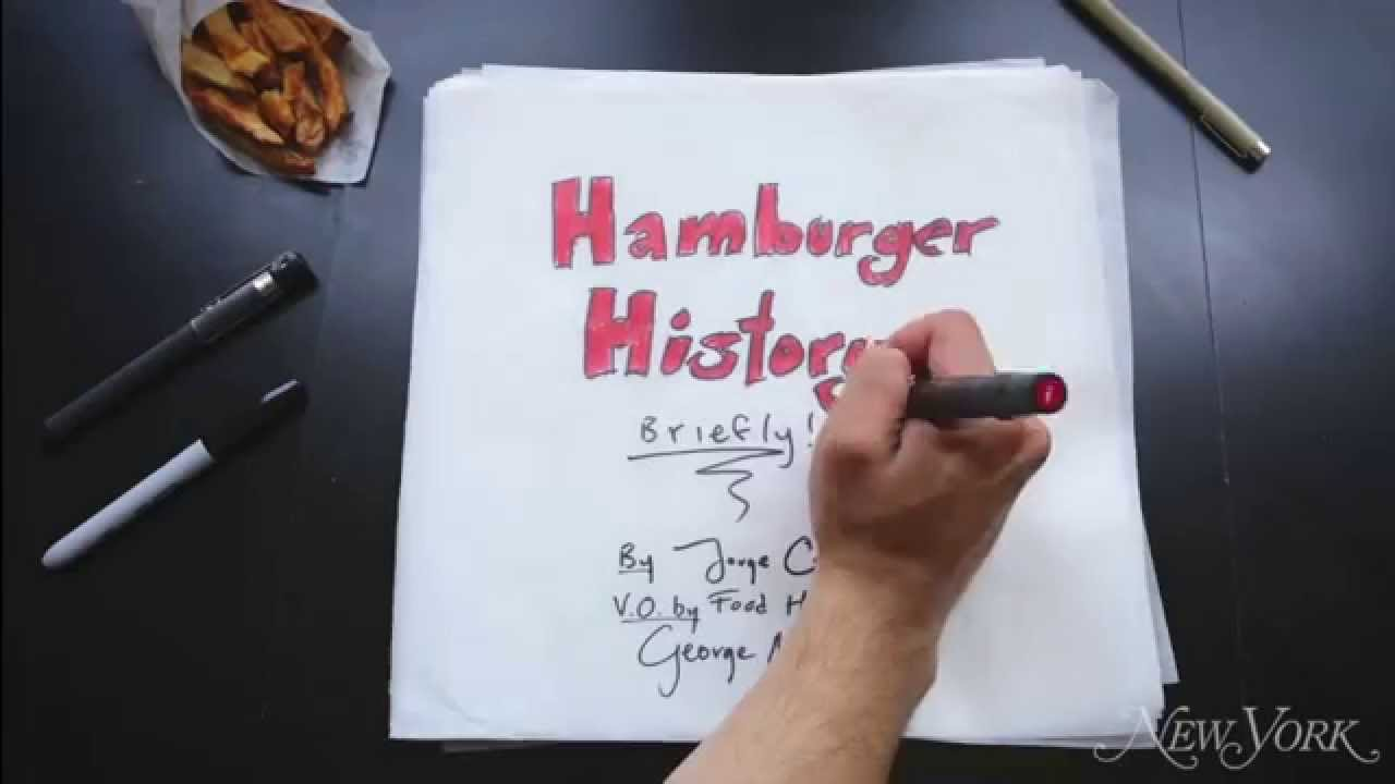 an amusing animated timeline of how the hamburger came to be