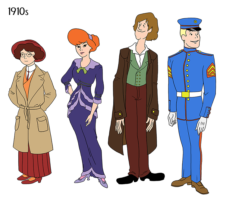 Scooby Doo Gang Through the Ages
