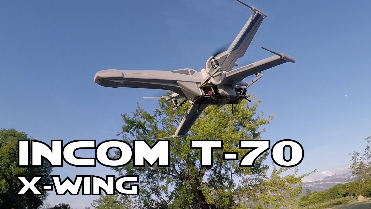 Remote,Controlled Quadcopter Drone That Looks Like an Incom T,70 X,Wing  Fighter From \u0027Star Wars The Force Awakens\u0027