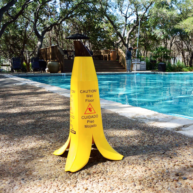 banana peel wet floor sign 2