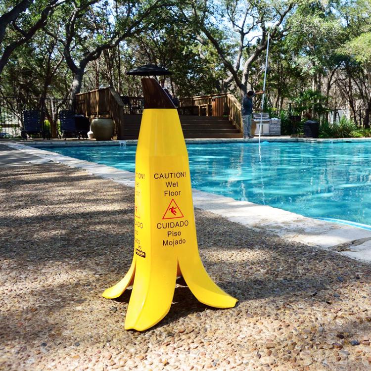 banana peel wet floor sign 2