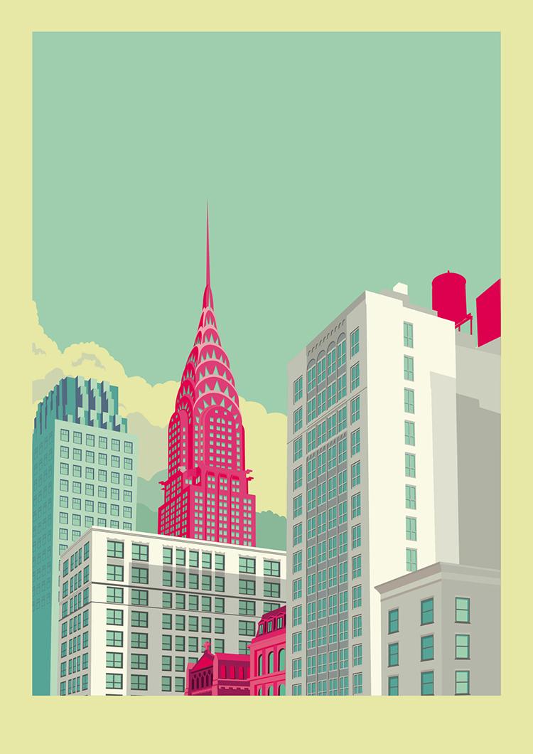 Park Avenue New York City Landscape