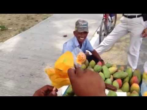 How to Cut a Mango Into a Flower Shape