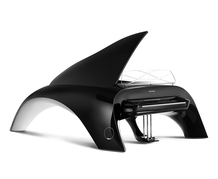 whaletone piano black front view
