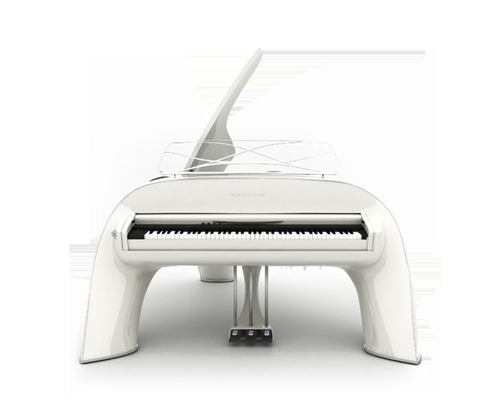 whaletone white piano front