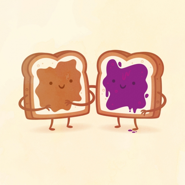 'Taste Buds', Colorful Illustrations That Personify Typically Paired Foods as the Best of Friends