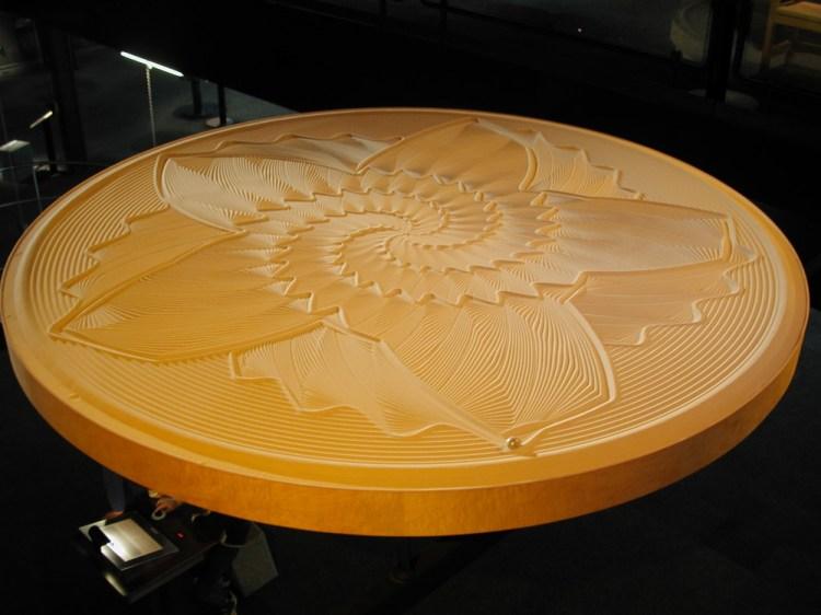 Sisyphus machine with yellow sand