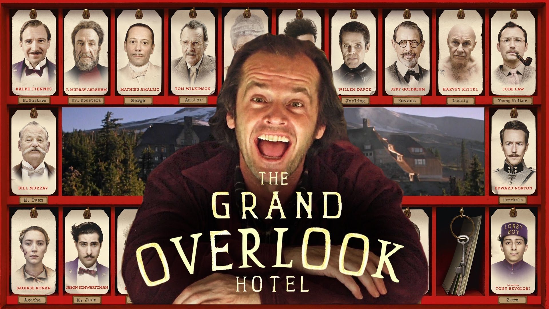 The Grand Overlook Hotel, A Mashup of 'The Grand Budapest Hotel' and 'The Shining'