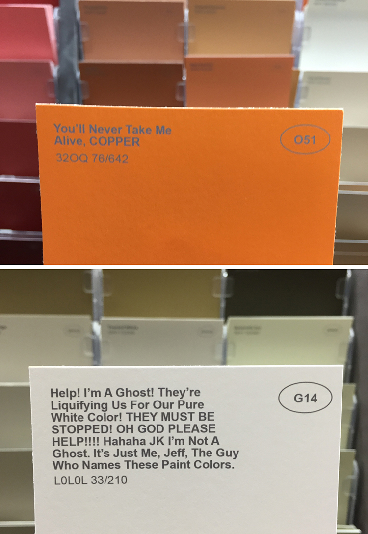Renamed Paint Colors