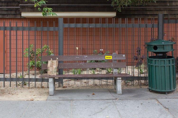 alternate text bench