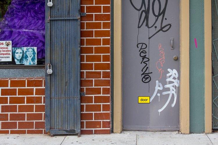 alternate text door