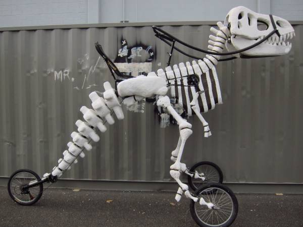 Giant Rideable T-Rex Art Bike