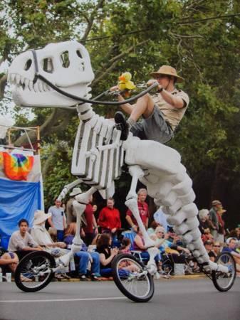 Giant Rideable T-Rex Art Bike