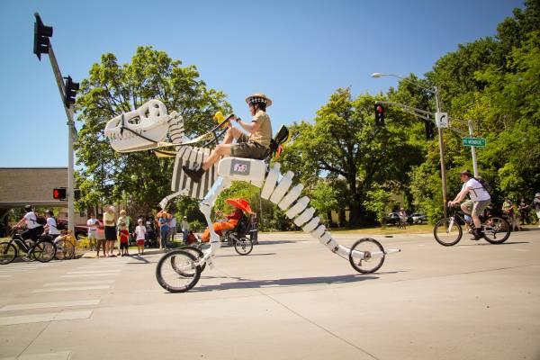 A Giant Rideable Tyrannosaurus Rex Dinosaur Bike Available